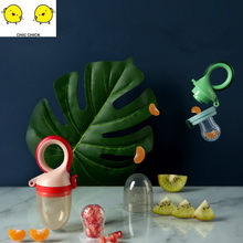 Baby Fruit and Vegetable Bite Bag Baby Fruit Pacifier Supplementary Gum Spoon And Fork Set Box Kids Cartoon Children Spoon(China)
