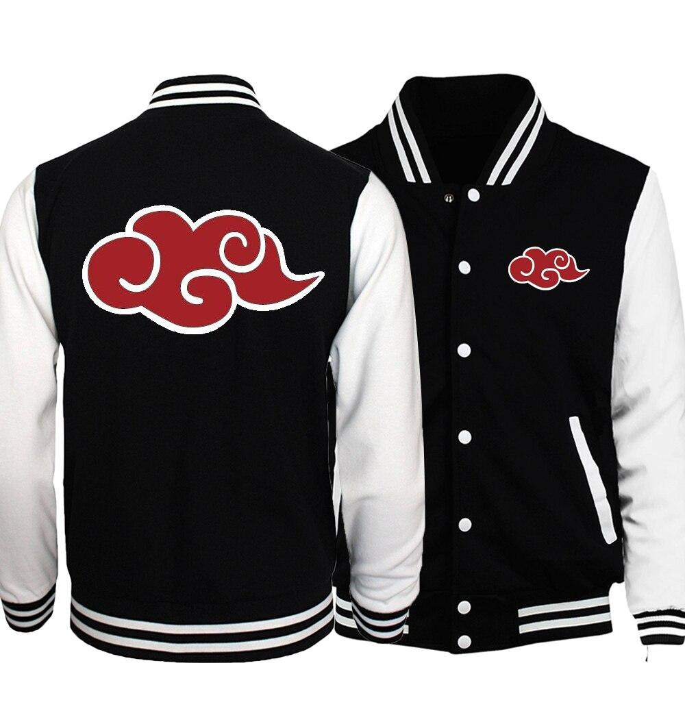 2019 Spring Naruto Uzumaki Coat Men Casual Loose Fit Baseball Uniform Jacket Adult Anime Naruto Jackets Men Plus Size S-5XL