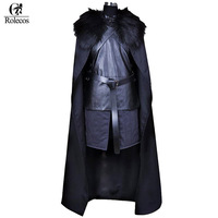 Rolecos Brand American TV Series Game Of Thrones Cosplay Costume Jon Snow Cosplay Knight Role Play