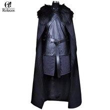 Rolecos американский бренд ТВ серии Игра престолов Косплэй костюм Джон Сноу Косплэй рыцарь ролевая игра костюм на Хэллоуин