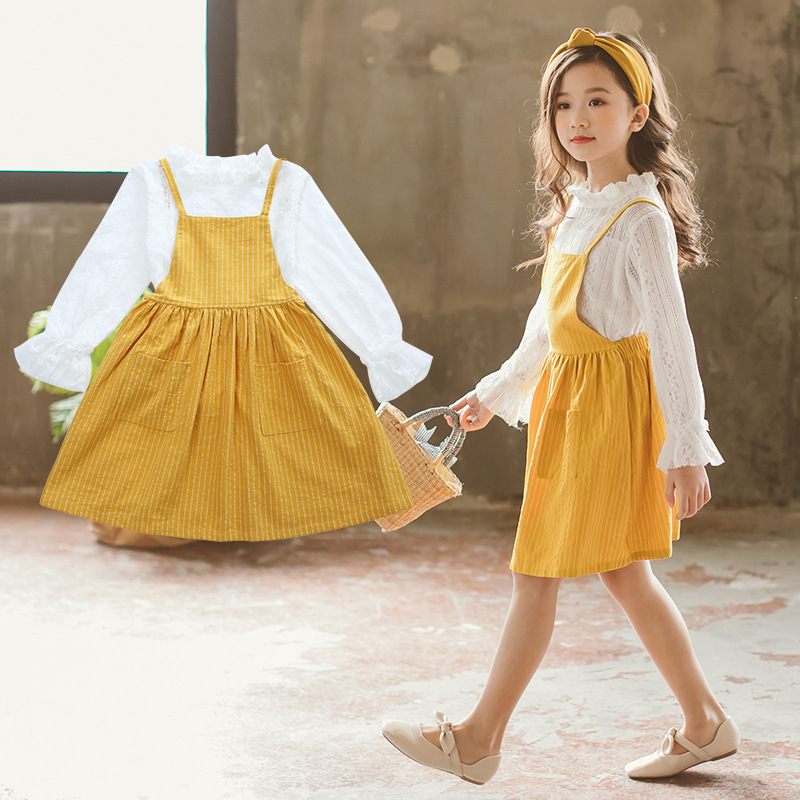 Girls Clothing Sets 2018 Spring Autumn Kids Clothes For Girls Lace T-Shirt + Skirts 2Pcs Girls Cute Skirt Suit 4 6 8 10 12 Years kids girls spring fall 2 pcs sets 2017 new baby girls clothing knitted sweater butterfly skirt suit 4 5 6 7 8 9 10 11 12 13