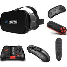Gafas-3D VR Headset com Console de Jogo de Realidade Virtual VR Goggles Óculos para O Iphone Lenovo Huawei LG Imersiva Espectador Olho Viagem