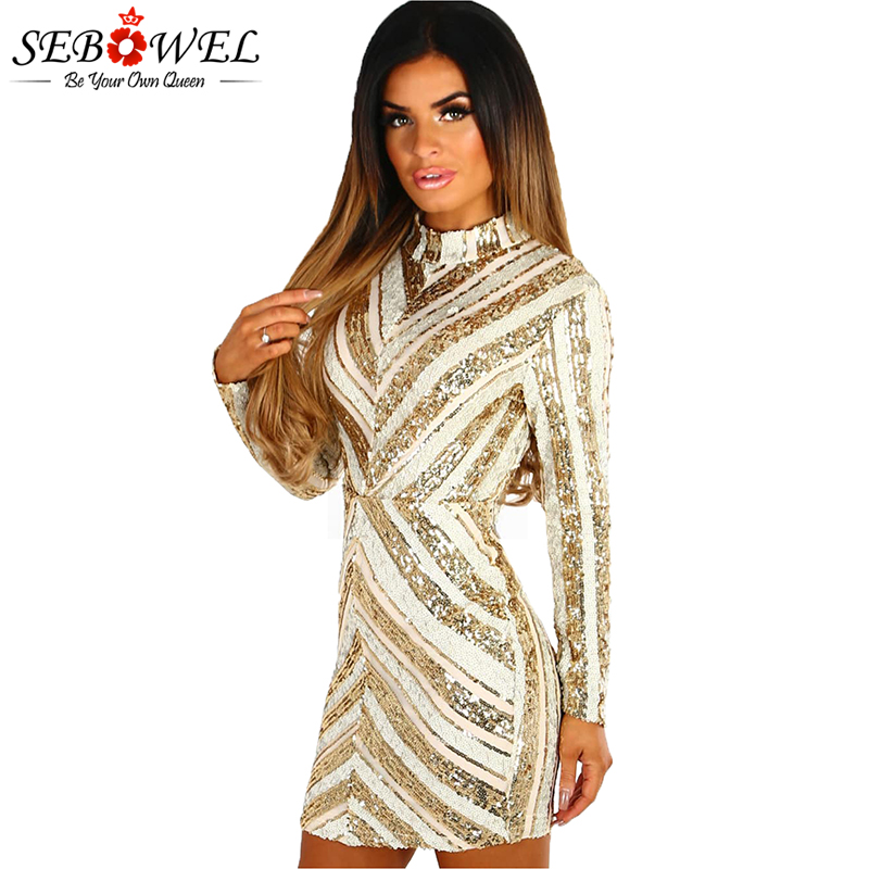 Life-Of-The-Party-Gold-And-Nude-Sequin-Long-Sleeve-Mini-Dress-LC220592-12-1