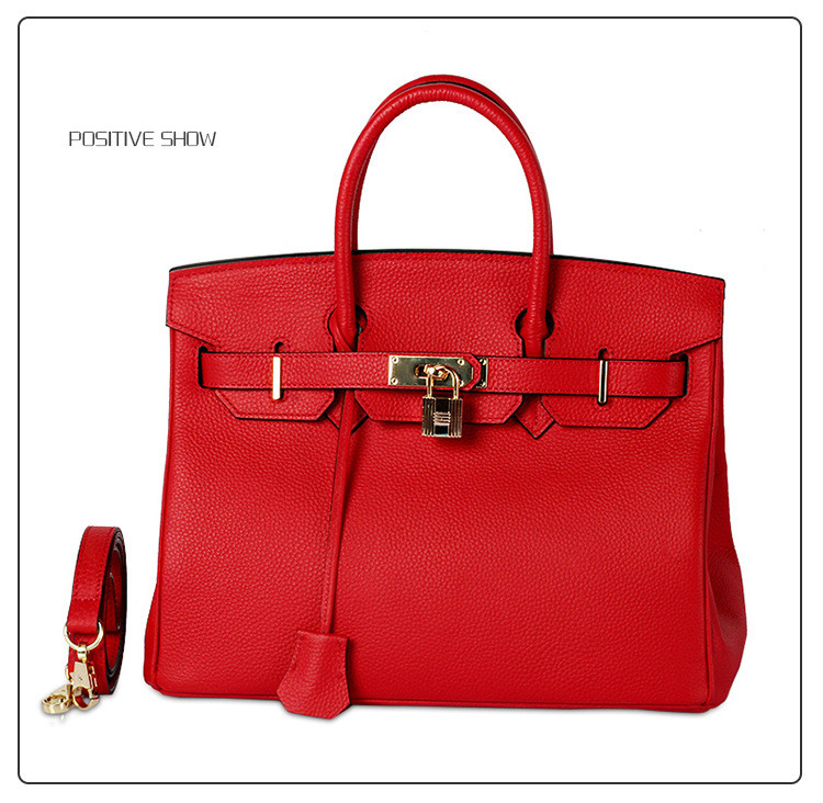 Genuine Leather Woman Birkin Inspired Handbag Excellent Quality