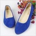 2016 моды острым носом одинокие женщины плоские туфли легкие конфеты цветов для женской обуви больших ярдов для женской обувь 43
