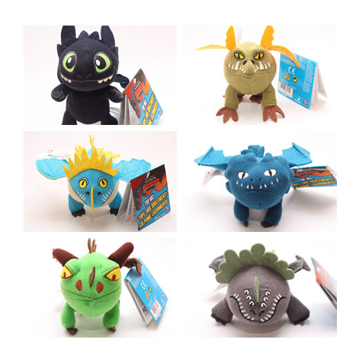 6pcs Season 2 How to Train Your Dragons Toothless Plush