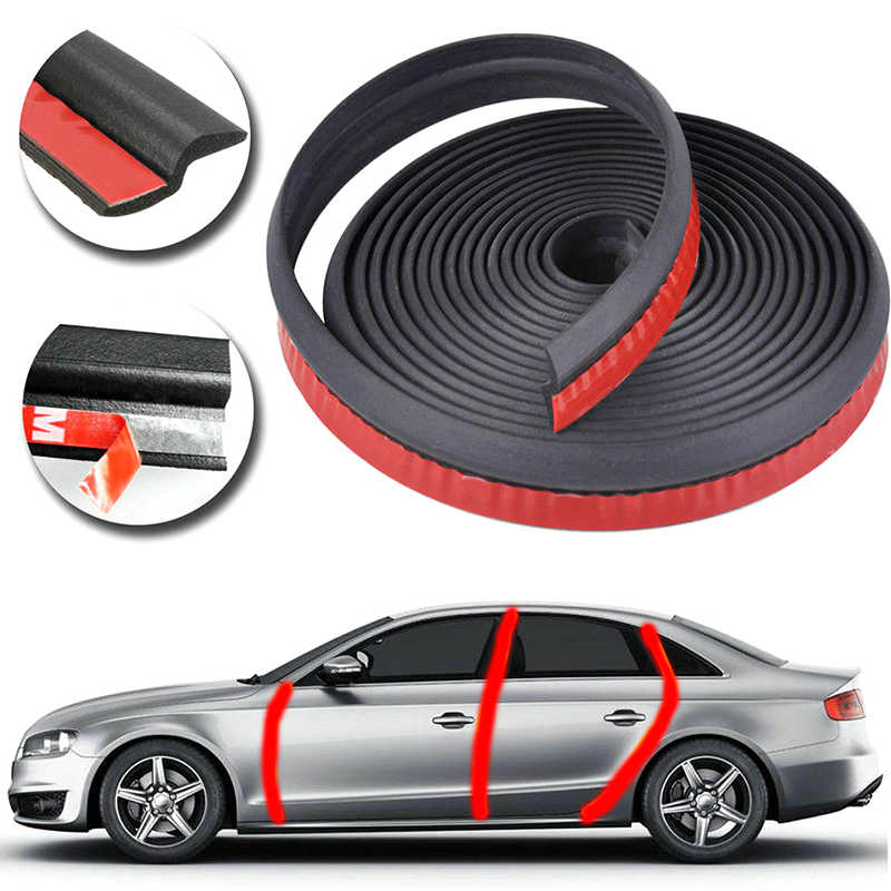 1/4/6M samochód uszczelka do drzwi ing taśma uszczelniająca dźwięk Auto gumowe obrzeża tapicerka szumów izolacja 4Meter Z typu uszczelka do drzwi drzwi samochodu