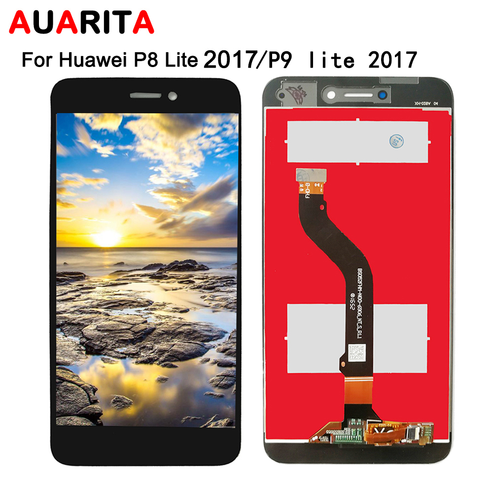 LCD For <font><b>Huawei</b></font> P8 lite P8lite <font><b>2017</b></font> <font><b>GR3</b></font> Nova P8 P9 Honor8 Lite <font><b>2017</b></font> LCD Display Touch panel <font><b>Screen</b></font> Digitizer with frame Assembly image