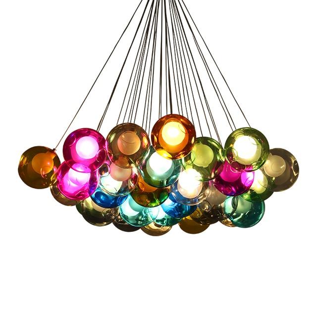 Finest Kreative Moderne Led Handmade Bunte Blase Diy Kristall Glas G Watt  Led With Bunte Lampe
