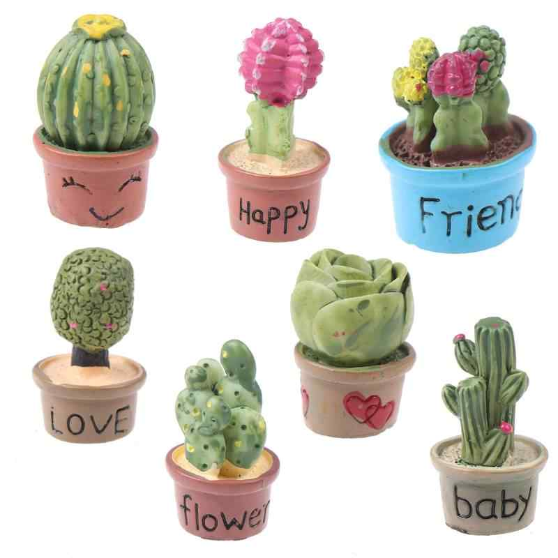 1:12 Mini Miniature Home Decor Succulent plants Mini Hot Sale Miniature Green Plant In Pot For Dollhouse Furniture Decoration