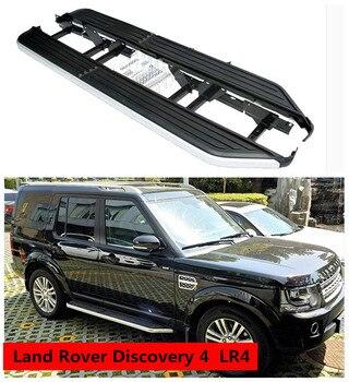 Land Rover Discovery 4 için LR4 2010-2017 Koşu Panoları araç kapısı yan basamağı Pedallar Yüksek Kalite Araba Nerf Barlar Modifikasyon Aksesuarları