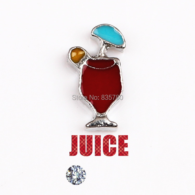 Free Shipping, 20pcs Zinc Alloy Mixed Color Juice Floating Charms Fit For Lockets, Gifts, Pet Collar