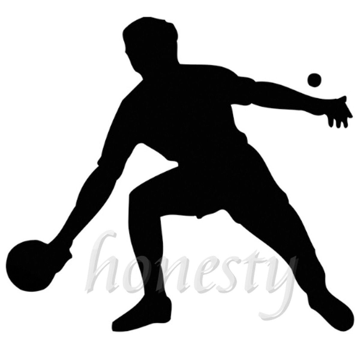 Настольный теннис плеер спортивные silhouett стены дома Стекло двери окна автомобиля Стикеры Авто Грузовик ноутбука черный виниловая наклейка ... ...