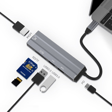 Type C To HDMI USB 3.0 2.0 PD Power Adapter TF/SD Card Reader USB C HUB For Macbook Pro Samsung Galaxy S10 S9 S8 Huawei P30 P20 цена и фото