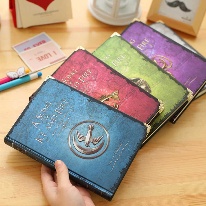Game of Thrones Cosplay Prop A Song of Ice and Fire Nine Family Badge Symbol Notebook Vintage Journal Manuscripts Souvenir Book