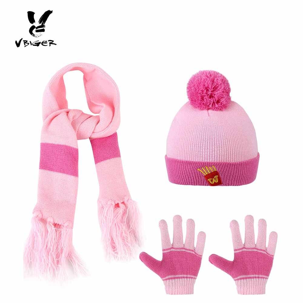 Vbiger 3 piezas Cartoon Kids invierno bufanda guantes de punto ...
