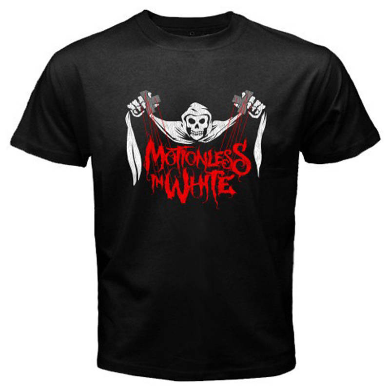 Graphic T Shirts Motionless In White Skull Short Sleeve Men Fashion 2018 Crew Neck Tee Shirts