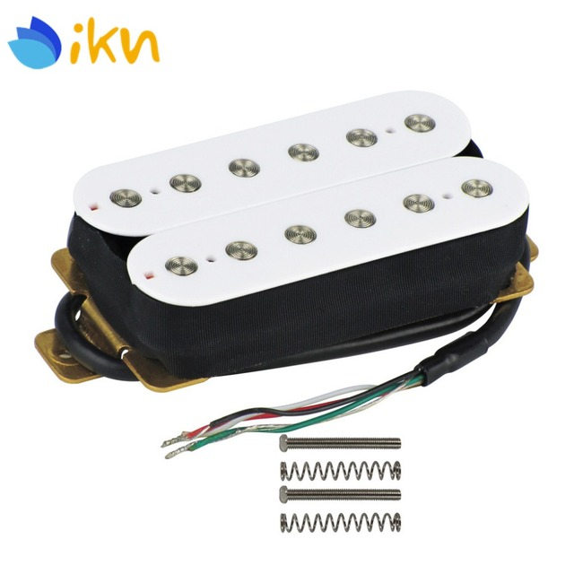 IKN White Electric Guitar Double Coil Humbucker Pickup Guitar Bridge Pickup 52mm Pole Spacing 4 Conductors_640x640 aliexpress com buy ikn white electric guitar double coil  at edmiracle.co
