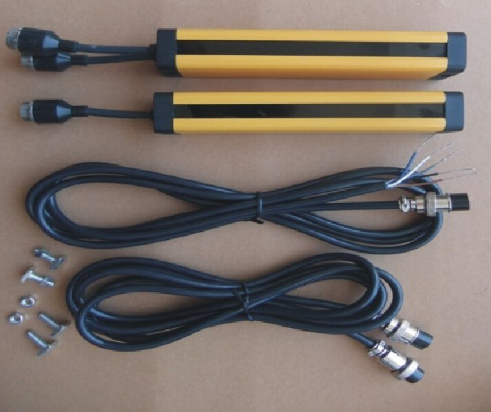 transistor NPN normally closed 4 points 40MM   light curtain safety grating hydraulic protection punch sensor photoelectric 4 beams 40mm relay out put manufacturers safety light curtain safety grating optical protection punch sensor