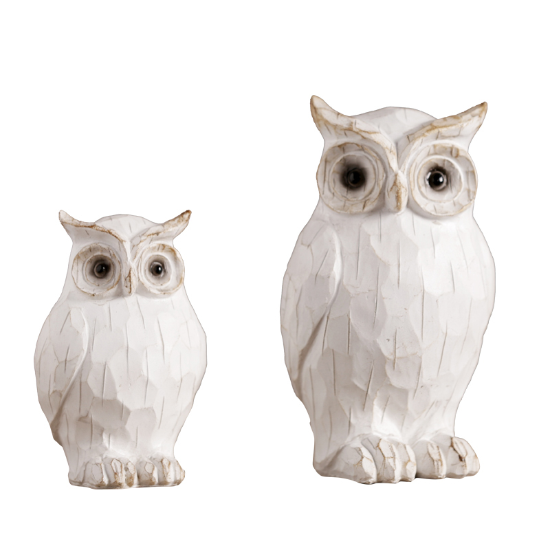 Resin Retro and Nostalgic Owl figurines Animal Resin Arts and Crafts fairy garden Birthday gifts home decoration accessories in Figurines Miniatures from Home Garden