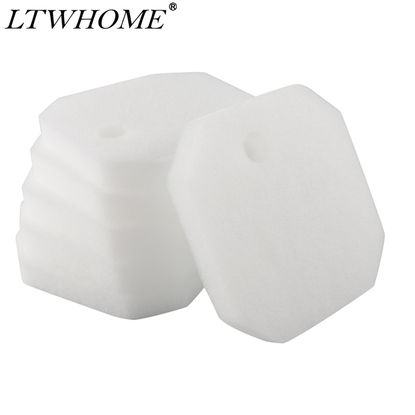 LTWHOME Replacement White Fine Filter Pads Fit For Eheim 2616225 Professional 2222/2324 And Experience 150/250/250T