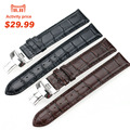 ISUNZUNISUNZUN Watch Straps For Tissot 1835 528A PRC200 T17 T461 T41Genuine leather Watch Band Nato Leather Strap Free Shipping