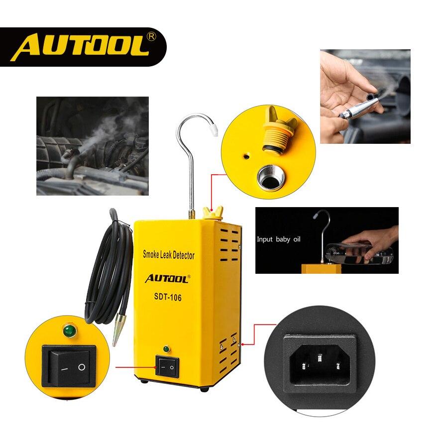 AUTOOL 2020 Car Smoke Analyzer Machine Leakage Detector Inspection Exhaust Smoke Meter Automotive EVAP Gas Leak Locator SDT-106