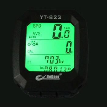 Brand New Bicycle Cycling Waterproof Speedometer Odometer LCD Green Backlight Bike Computer YT-823