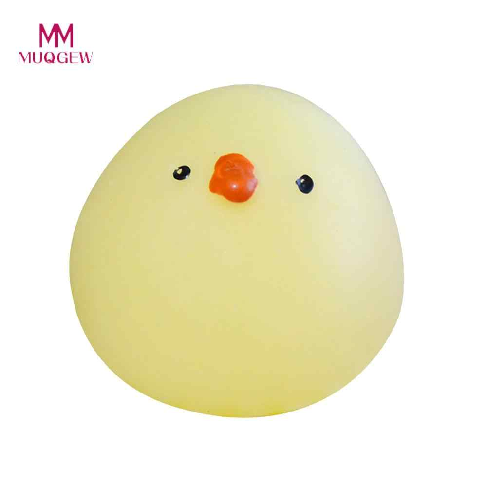 MUQGEW Mini Squishy mignon jaune poussins serrer abréagir amusant blague cadeau jouets en hausse MUQGEW amusement galaxie Poep parfumé Squishy charme