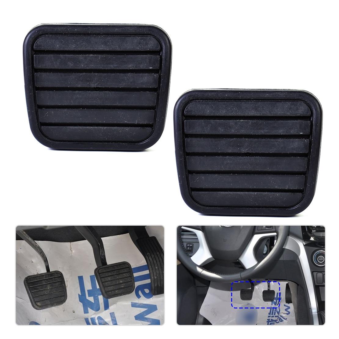 DWCX 2pcs Car Clutch Brake Pedal Pad Rubber Cover Fit For Great Wall V200 K2 2.0L Man Dual Cab Pick-Up 2012 2013 2014 2015 2016