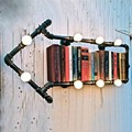 Industrial designer Loft  Water pipe wall lamp decorative Personality wall lights nostalgic vintage loft bookshelf wall lamps