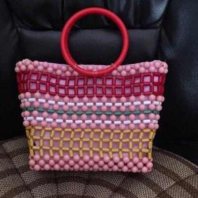 Nouveau femmes Vintage Top-poignée sac à main mode femme soirée à la main sac de perles dame de luxe Design perlé populaire Chic fourre-tout