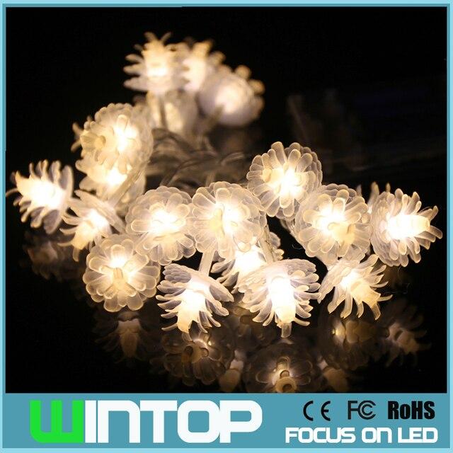 Us 8 99 2 M 20 Leds Dennenappel Led String Licht Met Aa Batterij Box Flash Steady Op Kerstverlichting Voor Vakantie Bruiloft Decoratie In 2 M 20