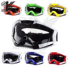 7 цвета прозрачные линзы ATV скутер мото части dirt велосипед ямы очки мото защиты мотоциклетный шлем мотокросс goggle