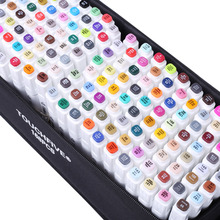 Magic Markers Set For Kids 30/40/60/80/168 Color Animation Sketch Marker Dual Head Drawing Art Brush Pens Alcohol Based