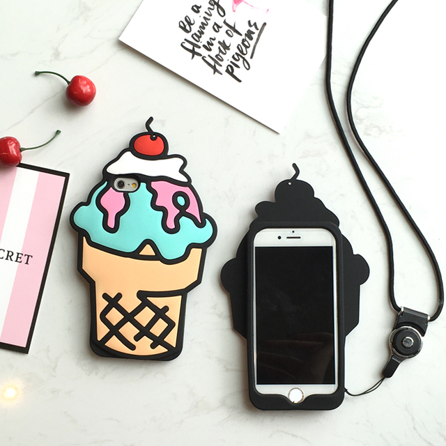 Case iPhone 5/5S/6/6S/6SPlus Cupcake 3 kolory