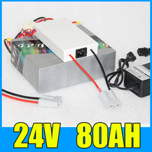 24V 80AH Lithium Battery Pack , 29.4V 2000W Electric bicycle Scooter solar energy Battery , Free BMS Charger Shipping
