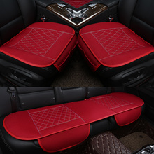 3Pcs/Set  Flax Car Seat Cover Pad for most cars Universal Front Back Auto Seat Covers Black Automobiles Seat Cushion universal car seat cover fiber linen front cushion 3d car styling seat covers automobiles for toyota for hyundai 1pcs 3 colored
