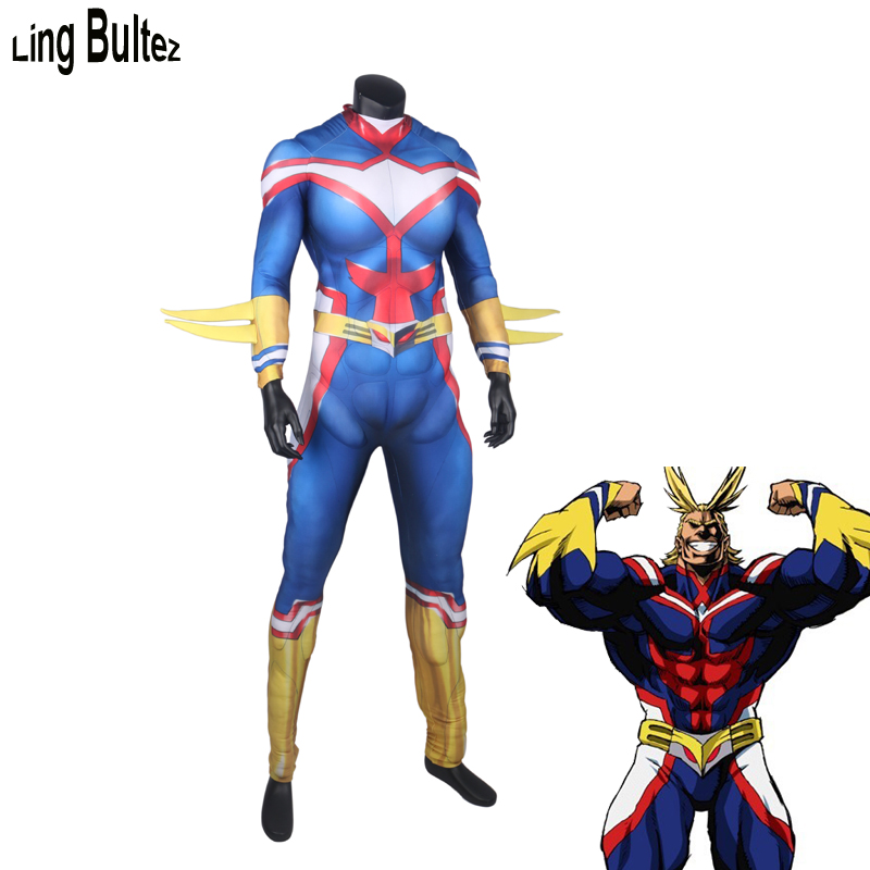 Ling Bultez 4 High Quality Anime Muscle Padding Costume Muscle Pad All Might Cosplay Costume For Man Custom Made