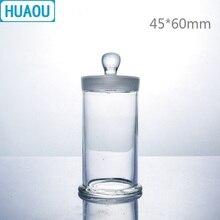 HUAOU 45*60 мм образец банка с ручкой и заземленной стеклянной пробкой медицинский формальдегид дисплей бутылки