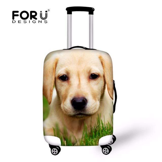Bagagem Capa Protetora à prova d' água Animal Cão Projeto Elástico Mala Cobre 18-22 Polegada Malas Anti-poeira Acessórios de Viagem