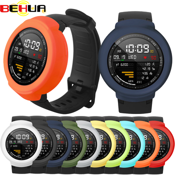 Soft Silicone Protective Case Cover for Amazfit Verge Watch Protector Frame Shell for Xiaomi Huami 3 Verge Wacth Accessories 059 soft slicone protective case cover protector frame shell colorful slim for huami amazfit verge watch accessories