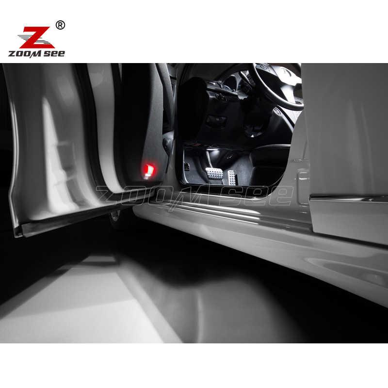 19 stücke LED kennzeichen Birne + Innen karte Lichter Kit Für Mercedes C klasse W204 Limousine C230 C250 C280 c300 C350 C63 AMG (08-14)