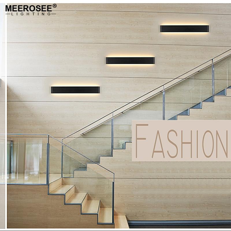 Modern 24cm 111cm Long Aluminum LED Wall Lamps for livingroom bathroom as Decoration Sconces Light 90 260V lamparas de pared