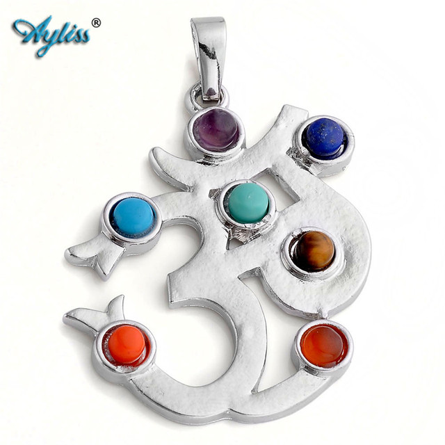 Ayliss 1x om symbol sketchman 7 stone cross ankh healing chakra ayliss 1x om symbol sketchman 7 stone cross ankh healing chakra balancing gem stone point bead mozeypictures Image collections
