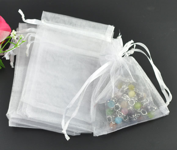 Mini Jewelry Gift Bags White Organza 7 9cm Pretty Pouches Fit For Wedding Free Shipping In Packaging Display From