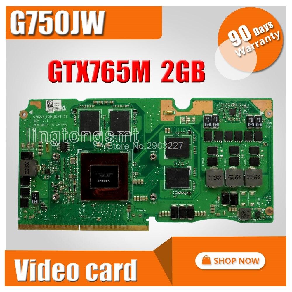 For Asus ROG G750J laptop card G750JW N14E-GE-A1 GeForce GTX765M GTX 765M 2GB VGA Graphic card Video card new original gtx 765m gtx765m 2gb video card for dell alienware m15x m17x m18x laptop gtx 765 gtx765 graphics card n14e ge b a1