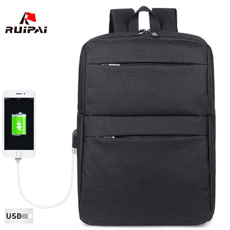 USB Charging Design Man Backpack Women Bolsa Mochila for 14 Inch Laptop Notebook Rucksack School Bag Backpack for Teenagers