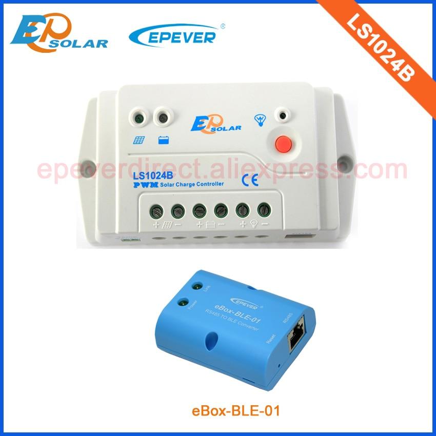 10A 10amp EPsolar solar controller PWM LS1024B buletooth box EPEVER 12v 24 auto type with wifi function use epsolar pwm ls1024b 10a 10amp solar controller temperature senor 12v 24v auto work