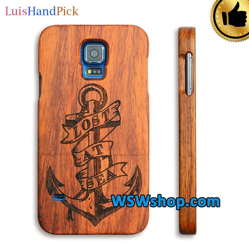 imágenes para LuisHandPick Para Samsung Galaxy S5 G9008V Cubierta Del Caso Real De Madera Natural de Madera Del Caso de La Contraportada Para Samsung Galaxy S5